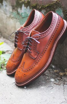 Shell Cordovan Longwing #menswear #shoes #alden