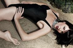 Gothic Mermaid Editorials - The Plaza Kivinna July 2012 Cover Shoot Stars a Dark Liberty Ross (GALLERY)