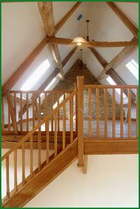 Stairs to barn loft / mezzanine floor