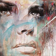 "Beautiful paintings by UK-based artist Danny O'Connor (aka DOC). ""Concentrating mainly on figurative and portrait subject matter, his influences include comic books, graffiti, illustration, and… Abstract Portrait Painting, Portrait Paintings, Kreative Portraits, Image Deco, Inspiration Art, Arte Pop, Fine Art, Mixed Media Artists, Art And Illustration"