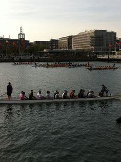 Drachenbootrennen in Kiel / Kieler Hörn