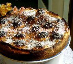 Tarta de ciruelas y coco