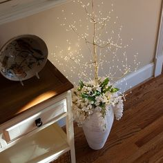 Gold Fairy Light LED Tree is designed for easy installation. Lighted Tree Branches, Fairy Lights In Trees, Led Tree, White Christmas Lights, Christmas Trees, Xmas, Light Up Tree, Tree Lighting, White Light