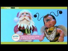 Manualidad del día: Cabeza tallada en icopor de muñeco de nieve
