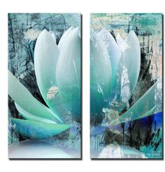Painted Petals 'XXIV' by Alexis Bueno 2 Piece Graphic Art on Wrapped Canvas Set
