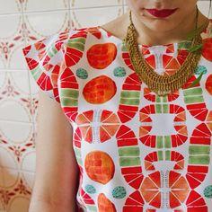 Wearable Art, Washer Necklace, Printing, Fabric, Fashion, Tejido, Moda, Fashion Styles, Fabrics
