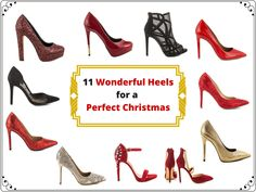 Are you also looking forward to christmas time only because you can once again wear gorgeous high heels? Then have a look at these 11 wonderful heels which are the perfect shoes for a big christmas party. Christmas Fashion, Christmas Time, Christian Louboutin, High Heels, Articles, Pumps, Big, Party, Shoes