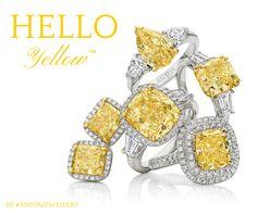 Fancy yellow diamond rings by ANTON Jewellery #Antonjewellery