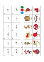 Mini Loco Kerstman - Welk woord is het? Jingle Bells, Phonics, December, Halloween, Holiday Decor, School, Christmas, Spelling, Note Cards