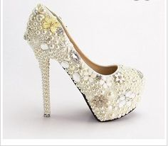 Encrusted wedding heels