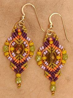 Lantern Earrings. micro-macramejewelry.com