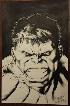 #Hulk #Fan #Art. (Bob Larkin Hulk homage) By: Carlo Pagulayan & Jeff De Los Santos. (THE * 5 * STÅR * ÅWARD * OF: * AW YEAH, IT'S MAJOR ÅWESOMENESS!!!™)[THANK U 4 PINNING!!!<·><]<©>ÅÅÅ+(OB4E)      https://s-media-cache-ak0.pinimg.com/564x/f7/b8/ec/f7b8ec4fd252f7f2f92c63979ea102bd.jpg