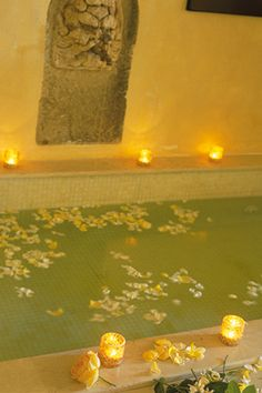 Spa L'Andana....had a jacuzzi with chaise lounge bolted to bottom! Room 20