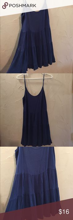 Navy Blue Jada Dress Navy Blue Jada Dress from Forever 21. Size Large. In excellent condition. Features adjustable straps. Looks very similar to Brandy Melville. Super cute on! Forever 21 Dresses Mini