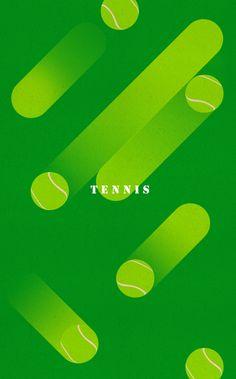 Tennis Poster on Behance Deco Design, Shape Design, Layout Design, Design Art, Print Design, Sports Graphic Design, Graphic Design Posters, Graphic Design Inspiration, Graphic Art