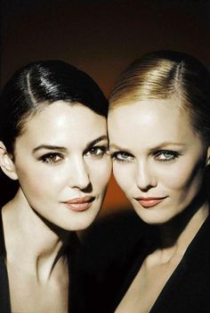 Monica Bellucci and Vanessa Paradis Chalk and cheese but both equally valid…