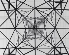 View from directly beneath an electrical transmission tower [1200x952]