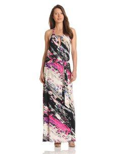 Three Dots Women's Halter Maxi Dress with Shelf Bra, Black/Multi, X-Large Three Dots http://www.amazon.com/dp/B00BMTHF74/ref=cm_sw_r_pi_dp_Ija3tb00E5XSBAH1