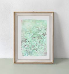 """Succulent Plant Painting Print from my original Handpainted Illustration - 5""""x7"""". $10.00, via Etsy."""
