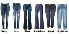 A calça jeans ideal para cada tipo de corpo | Sapphire Folheados