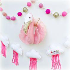 Pink pink pink pink pink...Ipink!!!    #fortunatheflamingo #fortuna #etsy #heartfelthandmade #cloudgarland #feltballgarland #pinkandgold #neonpinkclouds #pinkeverything #pink #everythingpink #ihavethisthingwithpink #flamingowreath #flamingohead