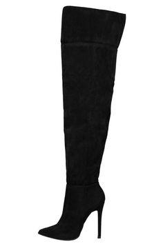 Alba Over Thigh High Boot (Black)