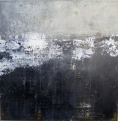 """""""Seeking Within,"""" plaster, oil, and cold wax on cradled panel by Dayna J. Collins at http://www.alleyartstudio.com"""