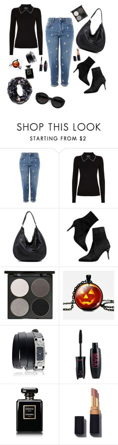"""""""blacks"""" by lisa-permanasari ❤ liked on Polyvore featuring Topshop, Markus Lupfer, Gorgeous Cosmetics, Givenchy, Chanel, Carla Zampatti and Charlotte Russe"""