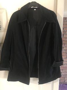 Ex Marks And Spencer Orange Zip Front Fully Lined Jacket Coat Size 8-18
