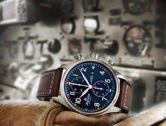 Relojoaria Alpina apresenta cronógrafo para aviação com dial bicompax