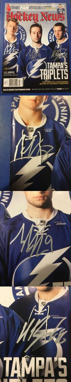 Pucks 108178: Kucherov, Palat, Johnson The Hockey News Magazine Autograph Tampa Bay Lightning -> BUY IT NOW ONLY: $150 on eBay!