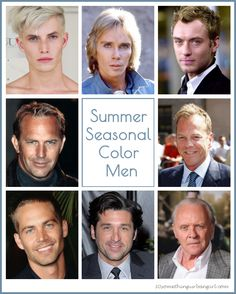 Summer seasonal color men
