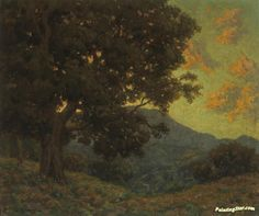 California Oak Artwork by Granville Redmond Hand-painted and Art Prints on canvas for sale,you can custom the size and frame