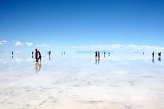 Salar de Uyuni: The biggest Mirror in world Salar de Uyuni, Bolivia is the largest salt flat in the world, which was formed as a result of geological transformation of some prehistoric lakes. It is covered by an almost flat layer of crust which is a source of brine and lithium. Indeed, if you visit Bolivia, you cannot resist this attraction. It is also a breeding place for flamingoes and it is surrounded by state of the art tourist amenities.