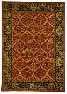 RugStudio presents Safavieh Anatolia Red / Navy Hand-Tufted, Best Quality Area Rug Craftsman Rugs, Red Oriental Rug, Navy Rug, Traditional Area Rugs, Wool Area Rugs, Wool Rugs, Shag Rugs, Red Rugs, Carpet Colors