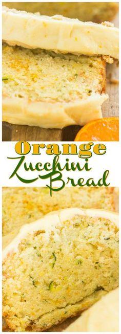 Orange Zucchini Bread with Orange Glaze - The Gold Lining Girl - Orange Zucchini Bread with Orange Glaze recipe image thegoldlininggirl… long pin 1 - Zucchini Bread Recipes, Zucchini Cake, Orange Zucchini Bread Recipe, Zucchini Desserts, Yellow Zucchini Recipes, Zucchini Bread Muffins, Zuchinni Bread, Köstliche Desserts, Dessert Recipes