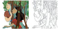 Deux illustrations de Matthieu Méron. Une idée d'Album à colorier sur le thème du scoutisme.