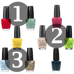 O.P.I. Nail Polish Spring Picks