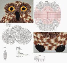tapete coruja de croche com/ grafico - Pesquisa Google