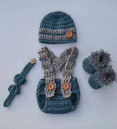 Newborn Boy Hats, Newborn Boy Clothes, Crochet Baby Clothes, Newborn Crochet, Newborn Photo Outfits, Baby Boy Outfits, Crochet For Boys, Boy Crochet, Newborn Photography