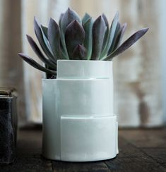 Porcelain Planter Tiered Collection Circular by taylorceramics, $68.00