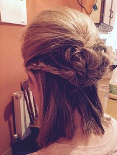 Half up do for an event