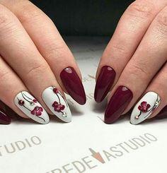 Нравятся бордовые ногти? Модный бордовый маникюр 2018-2019. Фото новинки бордового маникюра. Бордовый дизайн ногтей матовый. Маникюр бордовый цвет с рисунком.