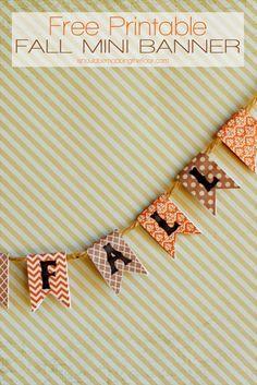 Free Fall Mini Banner Printable #247moms