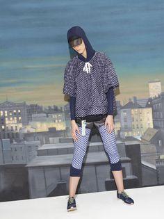 Adidas by Stella McCartney Run Print Cape Jkt Poncho