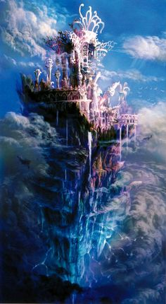 Final Fantasy X-2: Gagazet Ruins. So imaginative with the depth of levels and colours. Couldn't find the artist - let me know if you know.