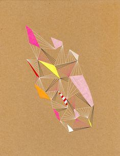 Constellations Geometric Collages by Chad Wys