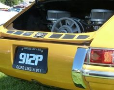 A 912 Porsche with a 4 cylinder over head cam 911 engine