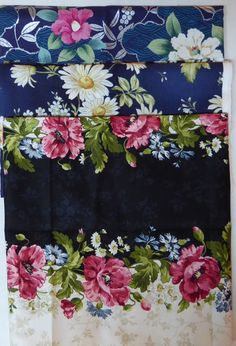 Flower Collection-#45~Cotton Fabric Bundle,End of Bolt~1Yds 23 inches ~Fast Shipping EOB244