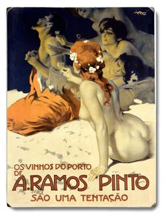 Ramos Pinto wines and Portos, Spanish vintage advert poster Retro Poster, Vintage Art Prints, Poster Ads, Advertising Poster, Vintage Travel Posters, Wine Advertising, Porto Vintage, Vintage Advertisements, Vintage Ads